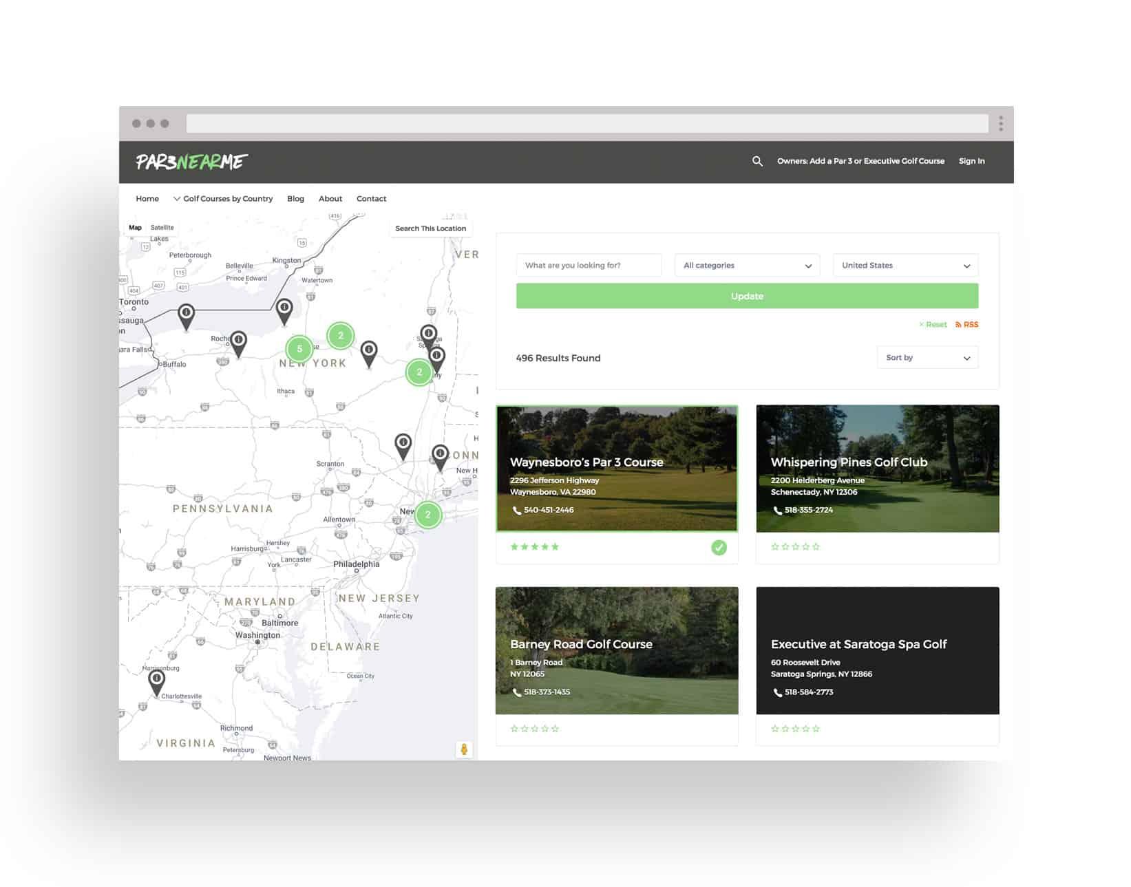 Studio JWAL Web Design Client - Par 3 Near Me