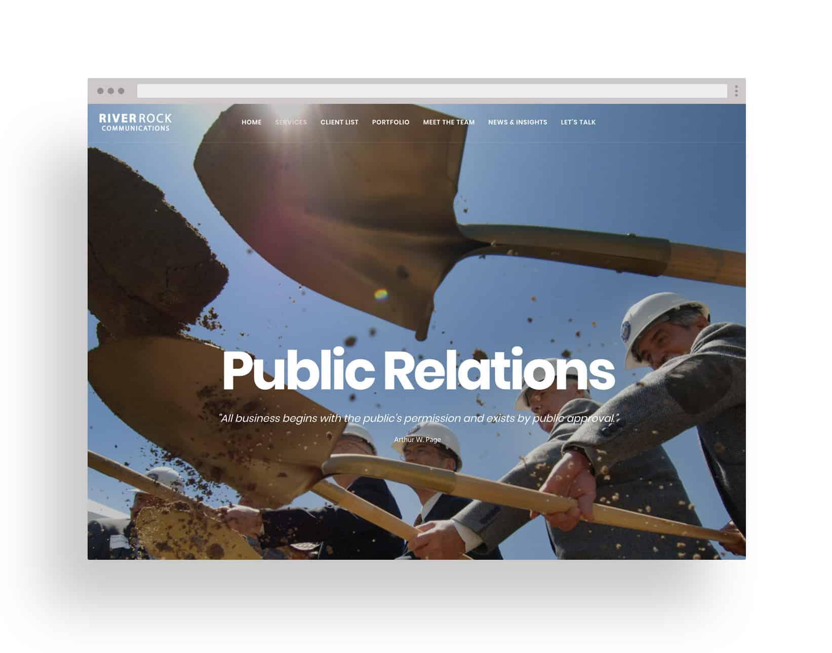 Studio JWAL Web Design Client - River Rock Communications
