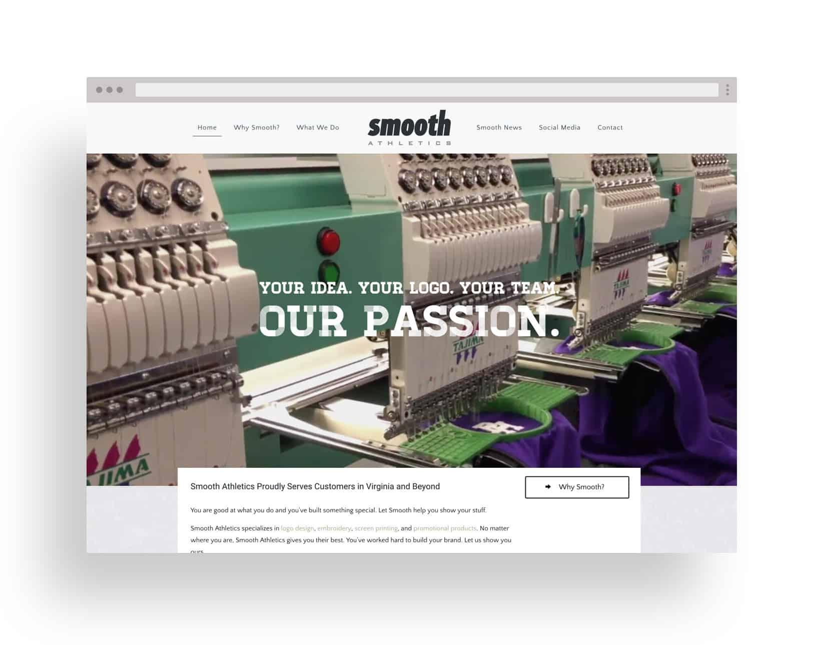 Studio JWAL Web Design Client - Smooth Athletics