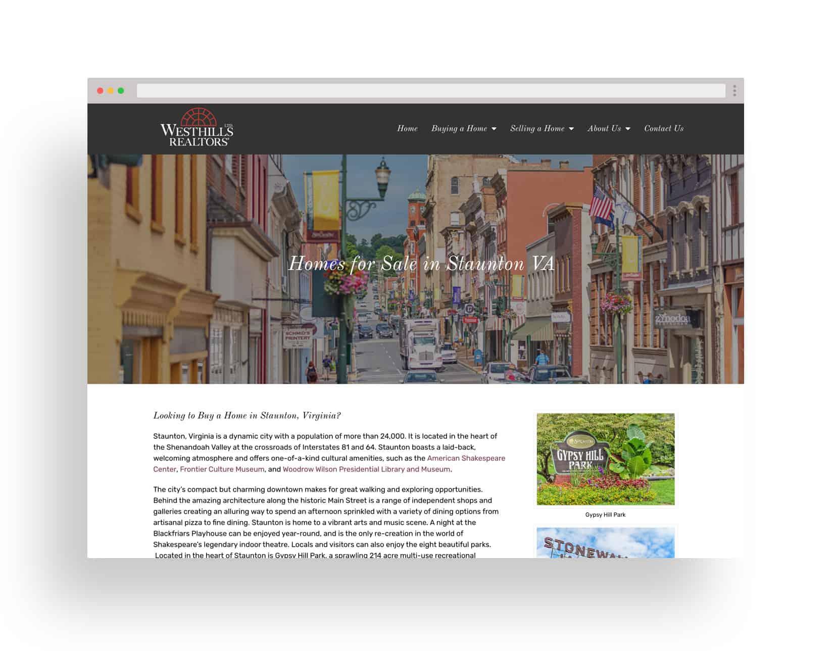 Studio JWAL Web Design Client - Westhills Ltd Realtors