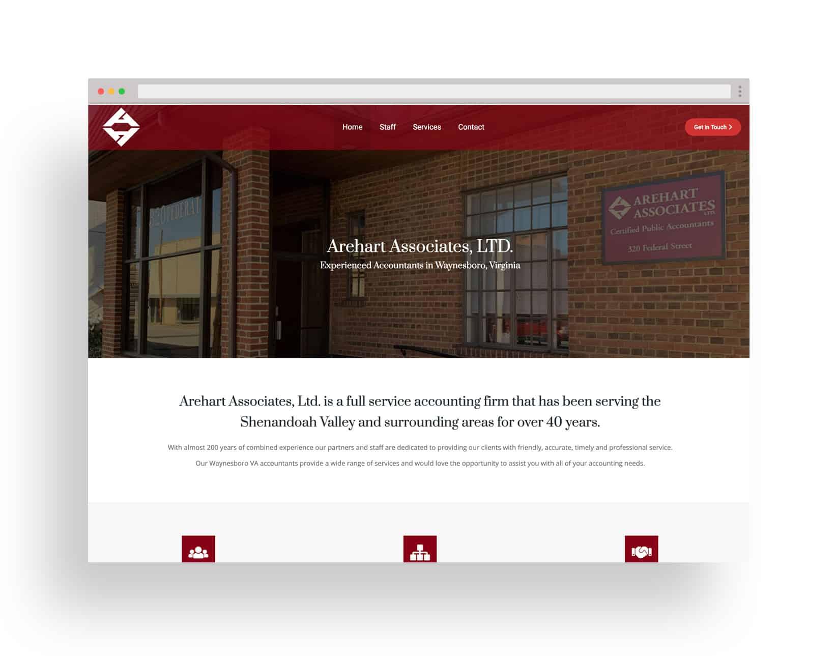 Studio JWAL Web Design Client - Arehart Associates Ltd