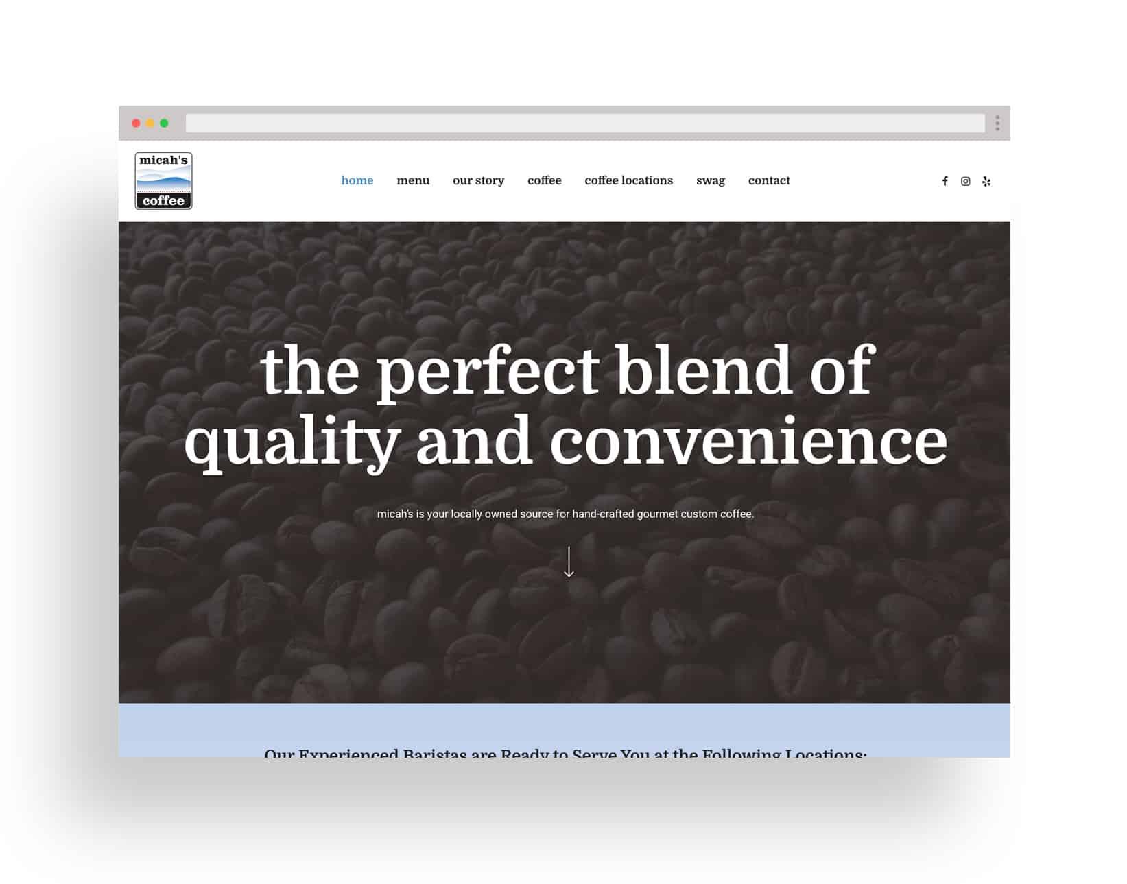 Studio JWAL Web Design Client - Micah's Coffee